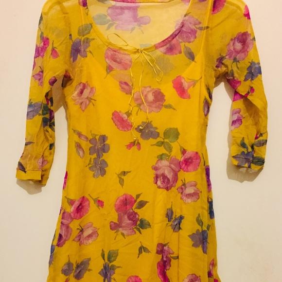 790f7d37d5cdb Betsey Johnson Dresses   Canary Yellow Slip Dress   Poshmark